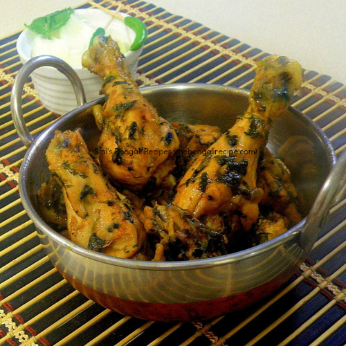 Dhaniya chicken bengali recipe mutton and chicken recipes all click here for bengali recipe of dhoney pata chicken or chicken curry with coriander leaves forumfinder Choice Image