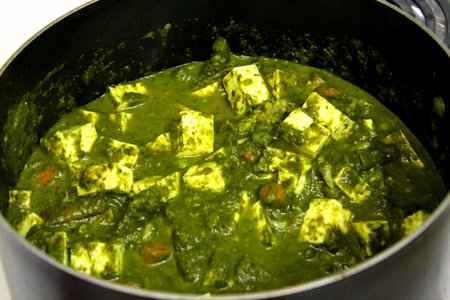 Palak paneer vegetarian recipes all recipes authentic indian recipe of palak paneer or palang paneer recipe step by step photos forumfinder Images