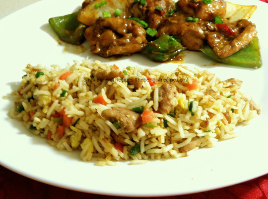 Kolkata style chicken fried rice bengali recipe rice roti and bengali recipe of authentic kolkata tangra or china town style chicken fried rice calcutta style forumfinder