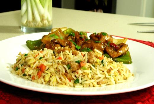 Kolkata Style Chicken Fried Rice Bengali Recipe Rice Roti And